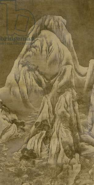 Winter landscape, Qing dynasty (ink and colour on silk)