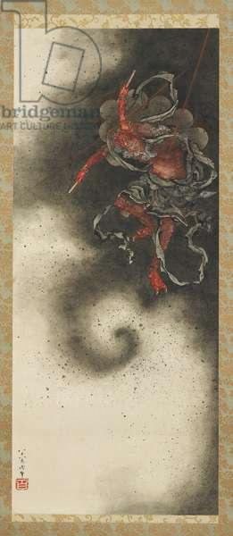 Thunder God, Edo Period, 1847 (ink & colour on paper)