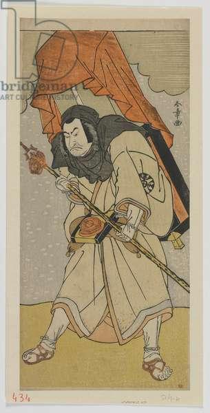 The Actor Nakamura Nakazo I as Chinzei Hachiro Tametomo Disguised as a Pilgrim, Edo period, 1780 (colour woodblock print)