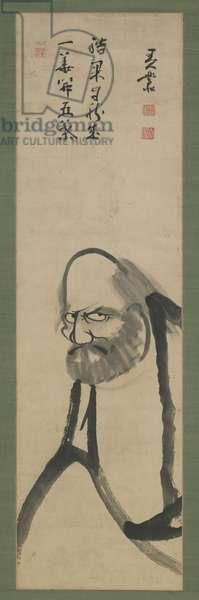 Bodhidharma, Edo period, 18th-19th century (ink on paper)