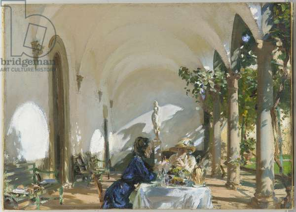 Breakfast in the Loggia, 1910 (oil on canvas)