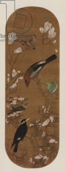 Birds and flowers, Qing dynasty (ink & colour on silk)