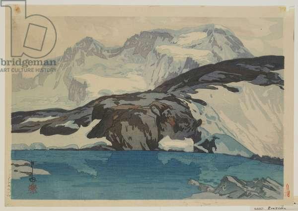 Breithorn, Taisho era, 1925 (colour woodblock print)