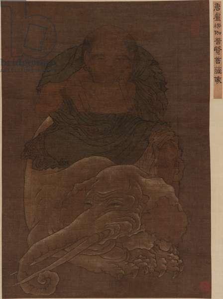 The Bodhisattva Puxian (Samantabhadra) (ink and colour on silk)