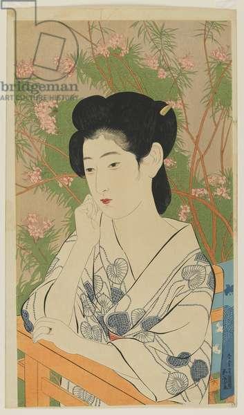 Hot Spring Hotel (Onsen yado) Taisho era, July 1920 (colour woodblock print)