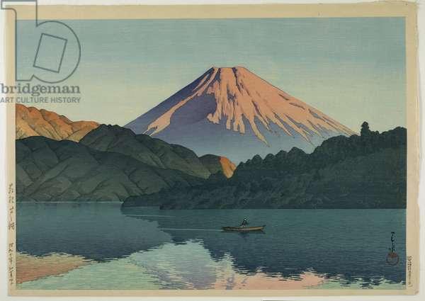 Lake Ashino, Hakone, 1935 (colour woodblock print)