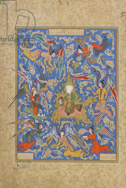 Folio from a Haft Awrang (Seven Thrones) by Jami (d.1492) probably Mashad, Khurasan, Iran, Safavid Period, 1556-65 (opaque watercolour, ink and gold on paper