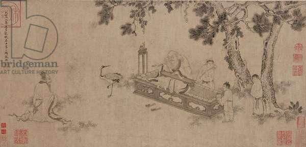 Laozi Delivering the Daodejing (ink on paper)