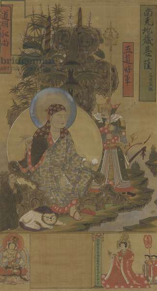 Ksitigarbha and Bodhisattva, Song Dynasty, late 10th-early 11th century (ink, colour and gold on silk)