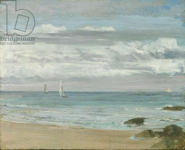 Blue and Silver: Trouville, c.1865 (oil on canvas)