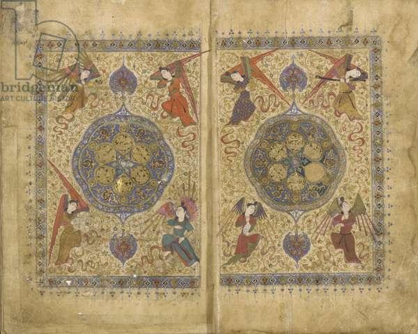 Khamsa (Quintet) by Khwaju Kirmani, Shiraz, Iran, Timurid period, 1437-38 (opaque watercolour, ink and gold on paper)