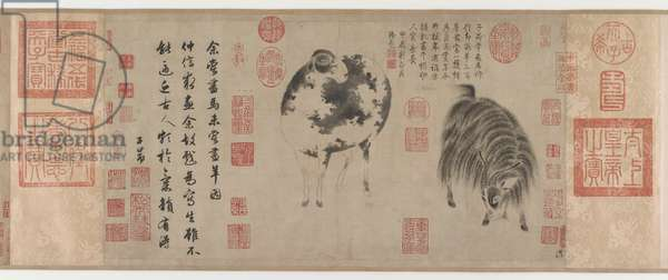 Sheep and Goat, Yuan Dynasty, c.1300 (ink on paper)