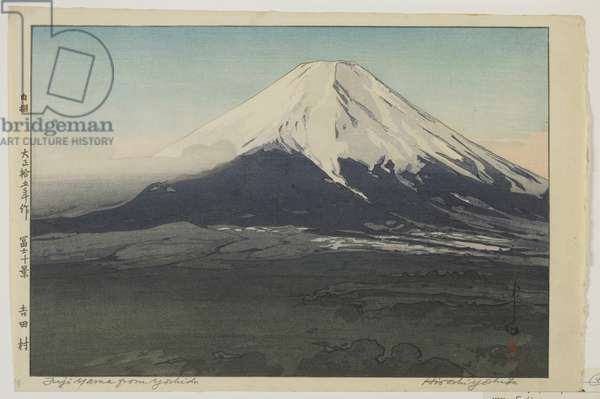 Fuji from Yoshida, from the series, Ten Views of Mount Fuji, Taisho era, 1926 (colour woodblock print)