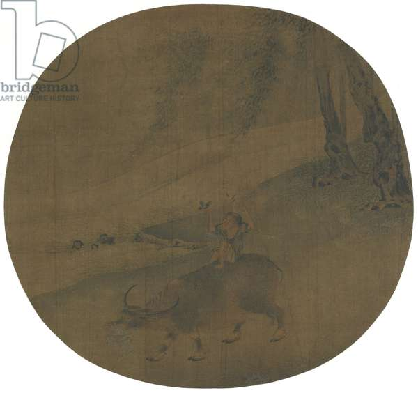 Boy on a water buffalo, Ming dynasty, 16th-17th century (ink and colour on silk)