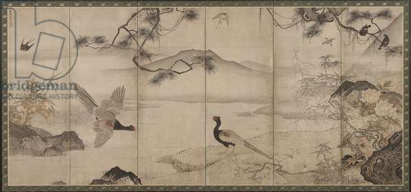 Birds and Flowers of the Four Seasons: Spring and Summer, Muromachi Period, late 15th-early 16th century (ink and colour on paper)