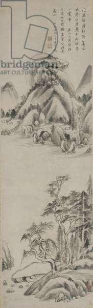 Landscape, Ming dynasty, 1617 (ink on paper)