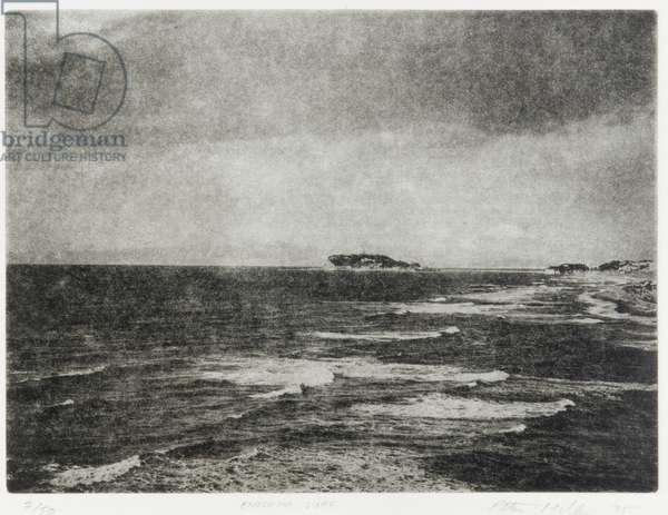 Enoshima Surf, 1992 (photogravure, ink on paper)