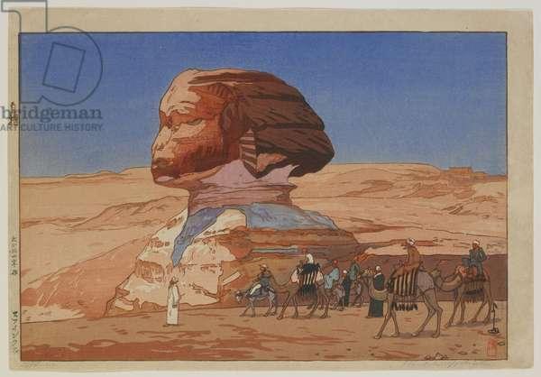 Sphinx - Day, Taisho era, 1925 (colour woodblock print)