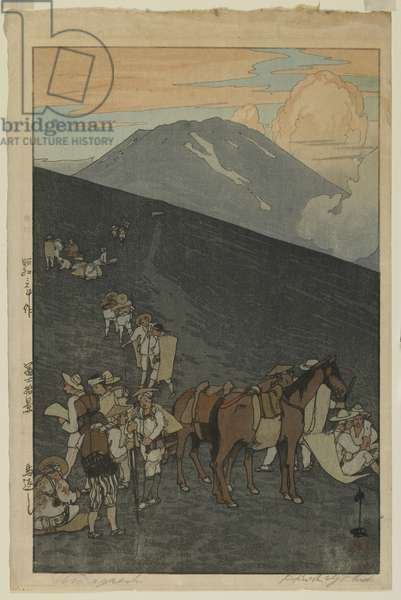 Umagaeshi, from the series, Ten Views of Mount Fuji, Showa era, 1928 (colour woodblock print)
