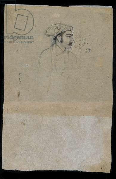 Sultan Khurram (Shah Jahan), c.1615 (ink on paper)