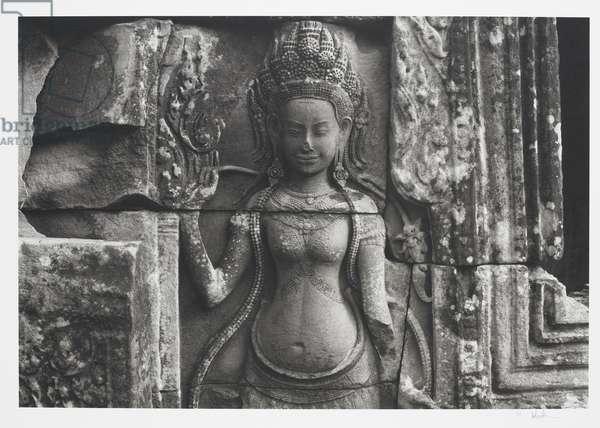Angkor #73, Cambodia (Temple of 'Bayon'), 1996 (platinum print)