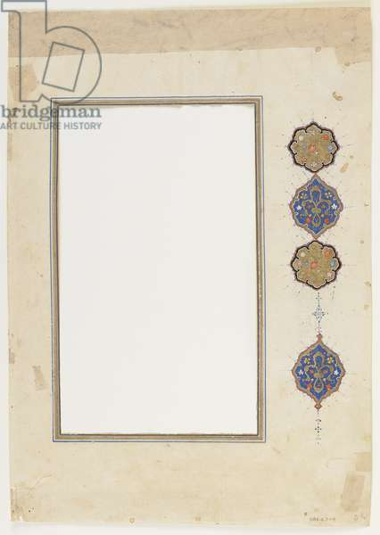 Folio from a Qur'an (border), detached manuscript border, 2nd half of 16th century (ink, opaque watercolour and gold on paper)