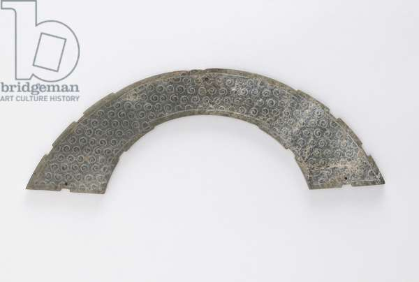 Thin plaque cut in arc of circle, of the type huang, Changsha, Hunan province, 4th-3rd century BC (jade)