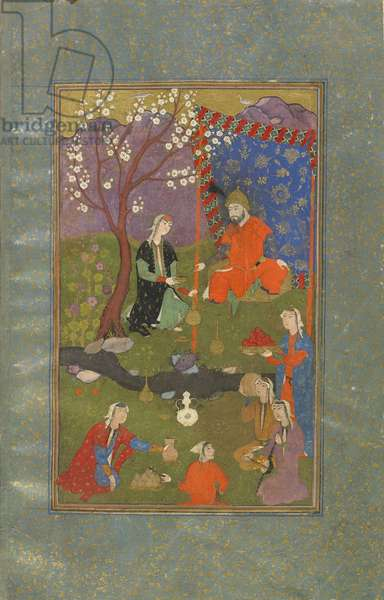 Folio from a Jamshid u Khurshid, Iran, Safavid period, c.1600 (opaque watercolour, ink and gold on paper)