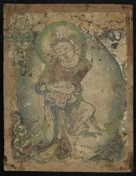 Dancing figure, Kizil, Xinjiang province, 600-800 (pigment on stucco)