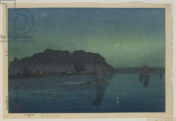 Tone River, Taisho era, 1926 (colour woodblock print)