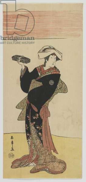 Kabuki Actor Nakamura Riko, Edo period, c.1791-92 (colour woodblock print)
