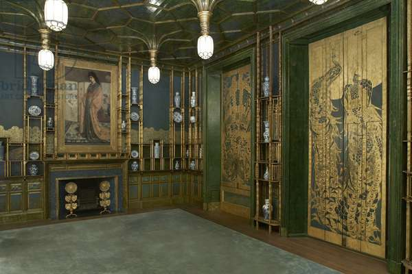 Harmony in Blue and Gold: The Peacock Room, designed by James McNeill Whistler (1834-1903) 1876-77 (photo)