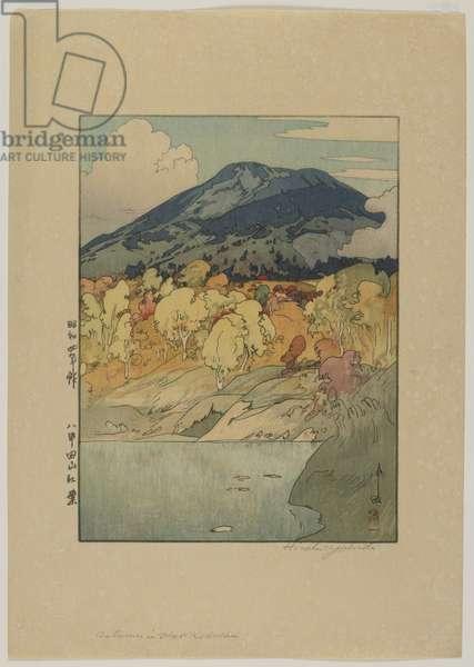 Autumn in Hakkodasan, Showa era, 1929 (colour woodblock print)