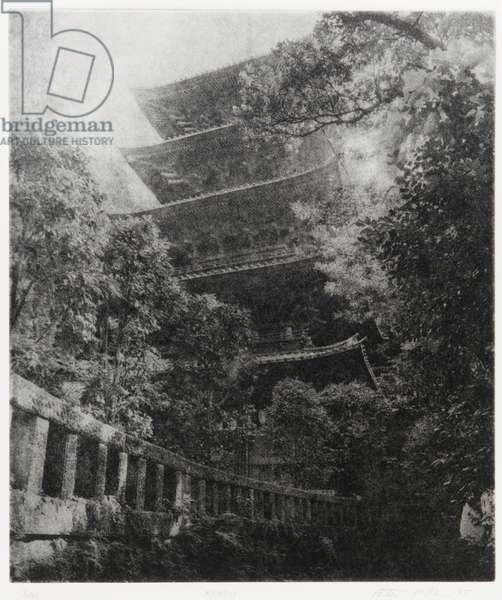 Ryukoji, 1995 (photogravure, ink on paper)