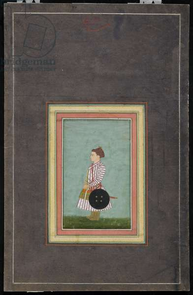 Young prince, Album folio with Painting, c.1650-1660 (opaque watercolour and gold on paper)