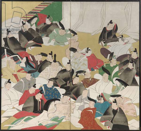 Thirty-Six Poets, Edo Period (ink, colour & gold on paper)