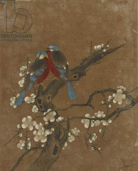 Ten pictures of birds and flowers (colour on silk)