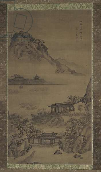 Clear and Chilly Morning, Qing dynasty, 1722 (ink and colour on silk)