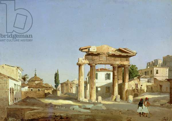 The Gate of Agora in Athens, 1843