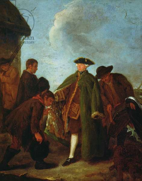 The Arrival of the Nobleman (oil on canvas)