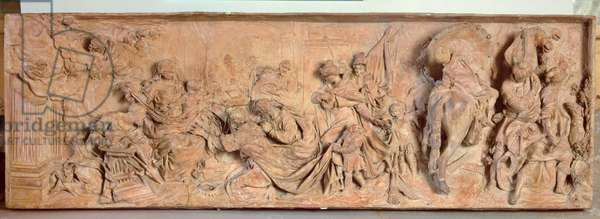 Adoration of the Magi, relief by Giovanni Maria Morlaiter (1700-81), 1730 (terracotta)