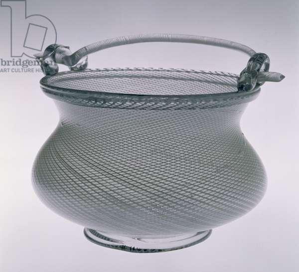 Ornamental glass bucket