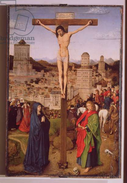 The Crucifixion (oil on panel)