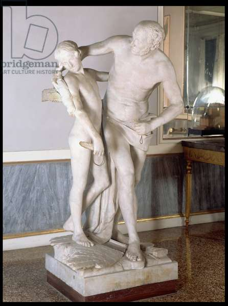 Daedalus and Icarus (marble)