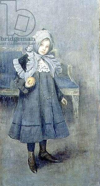 Girl in a Grey Bonnet, 1909 (oil on canvas)