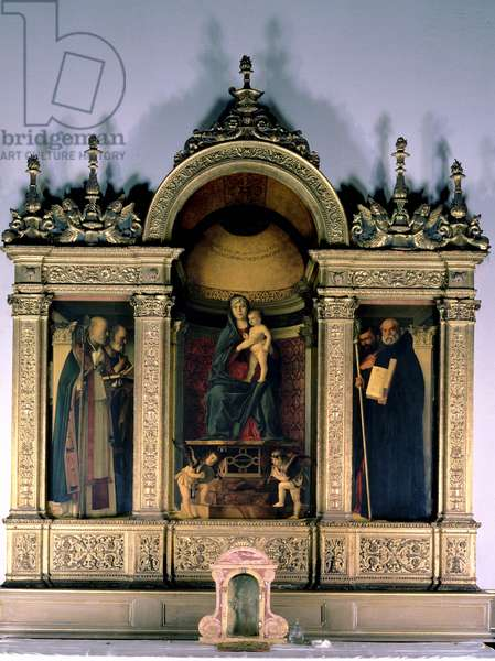 Madonna and Child and Saints (triptych altarpiece)
