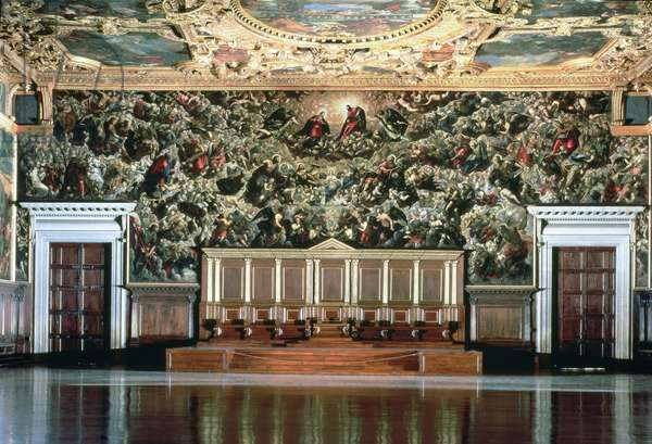 Paradise, Hall of the Great Council, Doges Palace (oil on canvas)