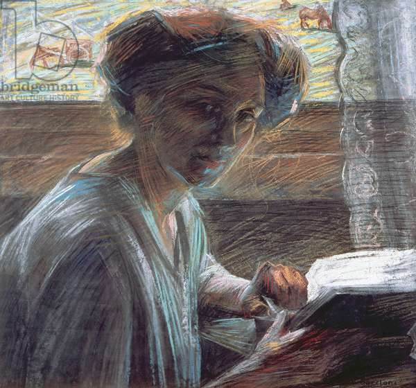 Woman Reading, 1909 (oil on canvas)