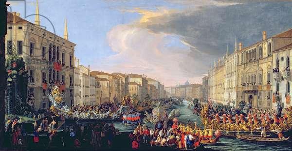 Regatta Held in Honour of Frederick VI of Denmark (1671-1730) 1709 (oil on canvas)