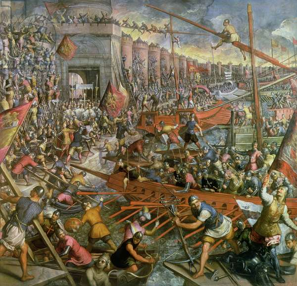 The Capture of Constantinople in 1204 (oil on canvas)